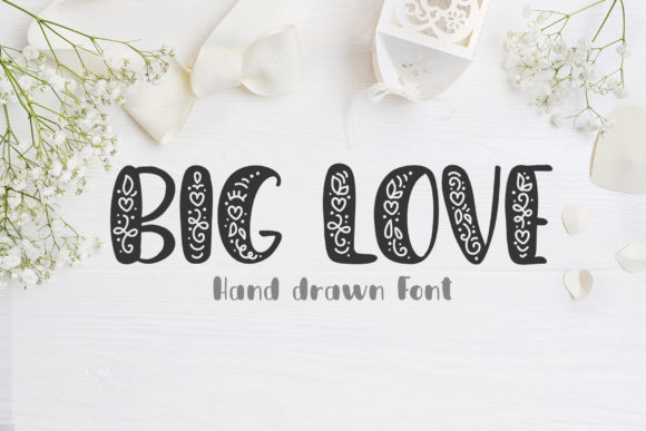 Print on Demand: Big Love Display Font By Happy Letters