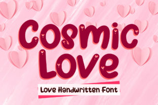 Print on Demand: Cosmic Love Display Font By boogaletter
