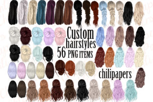 Print on Demand: Custom Hairstyles Clipart,Hair Clipart Graphic Illustrations By ChiliPapers