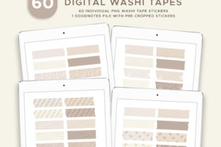 Digital Washi Tape Stickers Graphic Illustrations By budianie