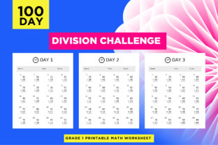 Print on Demand: Division Printable Math Practice Paper Graphic 1st grade By Riduwan Molla