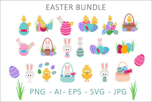 Print on Demand: Easter Bundle Clipart Graphic Illustrations By AS Digitale