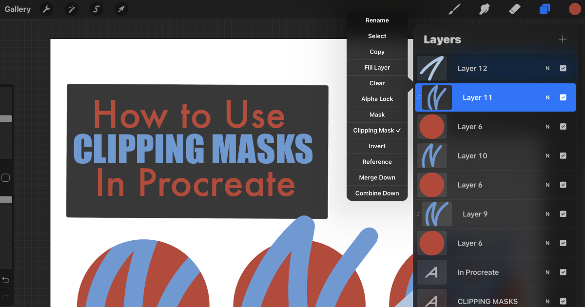 How to Use Clipping Masks in Procreate