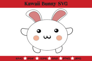 Print on Demand: Kawaii Bunny SVG - Cute Rabbit Clipart Graphic Illustrations By McLaughlin Mall