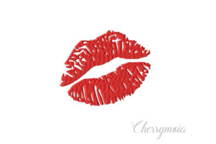 Kiss Valentine's Day Embroidery Design By CherrymoiaEmbroidery