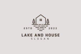 Lake and House Vintage Style Logo Design Graphic Logos By sabbirahmed012