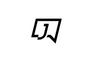 Print on Demand: Letter J Chat Logo Template Vector Graphic Logos By vectoryzen