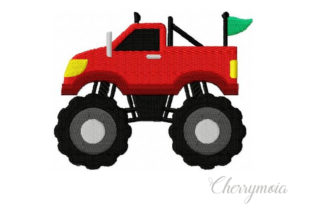 Monster Truck Transportation Embroidery Design By CherrymoiaEmbroidery