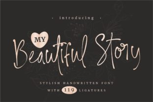 Print on Demand: My Beautiful Story Script & Handwritten Font By putracetol
