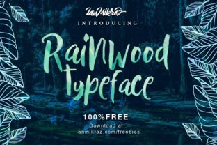 Print on Demand: Rainwood Script & Handwritten Font By Wicked Vectors