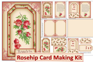 Print on Demand: Shabby Chic Card Making Kit Rosehips Graphic Crafts By The Paper Princess