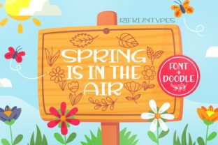 Print on Demand: Spring is in the Air Script & Handwritten Font By Rifki (7ntypes)