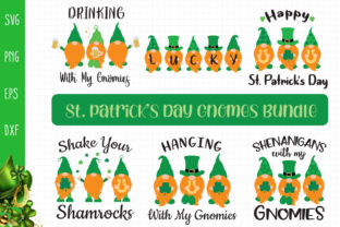 St. Patrick's Day Gnomes Bundle Svg Graphic Crafts By All About Svg