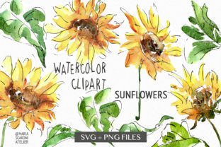 Print on Demand: Sunflower Svg Bundle Instant Download Graphic Illustrations By MariaScaroniAtelier