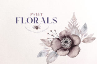 Watercolor Flower Arrangement Wedding Graphic Illustrations By Busy May Studio