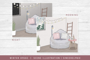 Winter Hygge Scene Graphic Illustrations By SincerelyNix