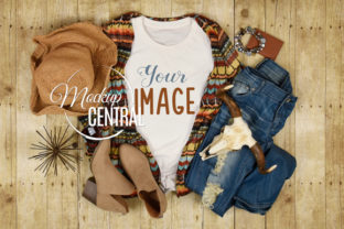 Woman's Boho Chic Country T-Shirt Mockup Graphic Product Mockups By Mockup Central