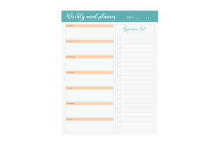Weekly Dinner Planner Planner Craft Cut File By Creative Fabrica Crafts