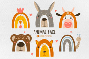 Print on Demand: Animal Face Clipart, Animal Svg. Graphic Crafts By FindsArtDesign