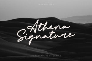 Print on Demand: Athena Signature Script & Handwritten Font By agamous