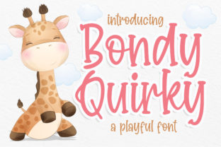 Print on Demand: Bondy Quirky Script & Handwritten Font By Blankids Studio