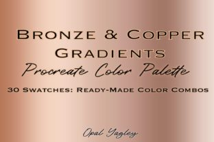 Print on Demand: Bronze & Copper Procreate Color Palette Graphic Add-ons By opal.yagley