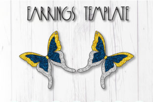 Butterfly Earrings Template Graphic 3D SVG By ArtiCuties