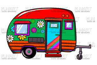 Camping Caravan , Camper , Clipart, Png Graphic Illustrations By Fundesings