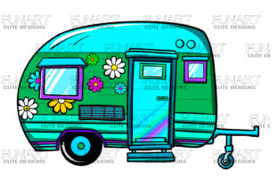 Camping Caravan , Home , Clipart, Png Graphic Illustrations By Fundesings