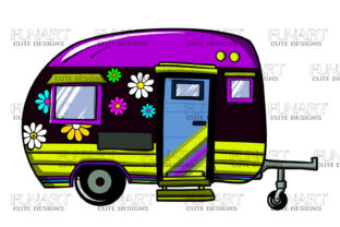 Camping Van Clipart Png Caravan Designs Graphic Illustrations By Fundesings