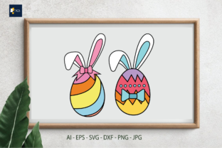 Print on Demand: Easter Day - Rabbit-decorated Eggs Graphic Illustrations By Na Punya Studio