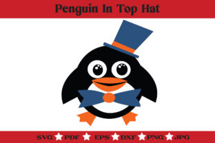 Print on Demand: Fancy Penguin SVG - Cute Penguin Clipart Graphic Illustrations By McLaughlin Mall