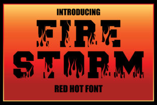 Print on Demand: Firestorm Display Font By KtwoP