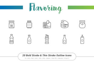 Flavoring Outline Stroke Icons Graphic Icons By Ctrl[A]Studio