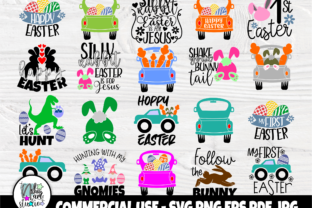 Print on Demand: Funny Easter Quotes SVG, Kids Easter Svg Graphic Crafts By nibaartstudio