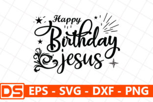 Print on Demand: Happy Birthday Jesus Grafik Druck-Templates von Design Store