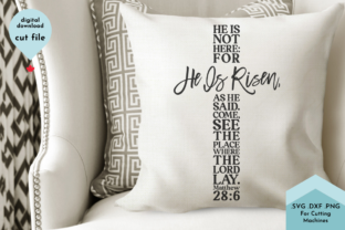 Print on Demand: He is Risen - Christian,Cross, Easter Graphic Crafts By Lettershapes