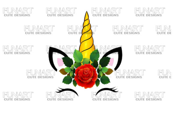Head Face Unicorn Design PNG , Clipart Graphic Illustrations By Fundesings