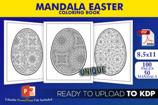 Print on Demand: Mandala Easter Coloring Book for KDP Graphic KDP Interiors By Beast Designer