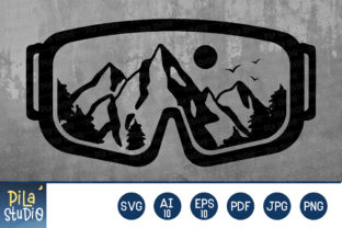 Mountain Snow Goggles SVG File Clipart Graphic Illustrations By Pila Studio