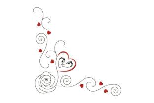 Print on Demand: Rose, Heart, Baby Feet Valentine's Day Embroidery Design By EmbArt