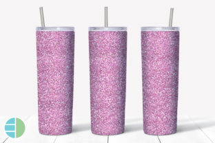 Skinny Tumbler Sublimation Pink Glitter Graphic Illustrations By Enliven Designs