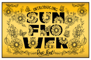 Print on Demand: Sunflower Display Font By KtwoP
