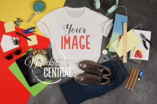 T-Shirt School Mockup, Student Shirt Graphic Product Mockups By Mockup Central