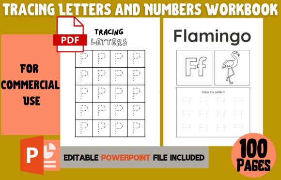 Print on Demand: Tracing Letters and Numbers Workbook Graphic KDP Interiors By Cool Worker