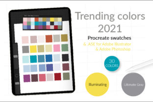 Trending colors of 2021 & color palette for Procrerate