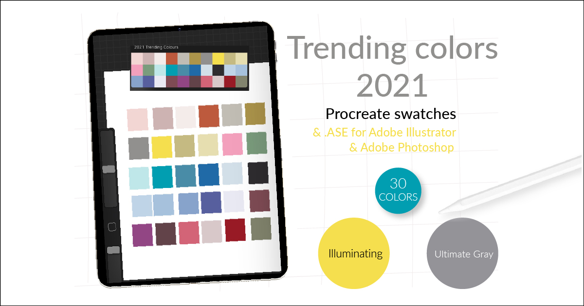 Trending colors of 2021 & color palette for Procrerate main article image