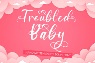 Print on Demand: Troubled Baby Script & Handwritten Font By freelingdesignhouse