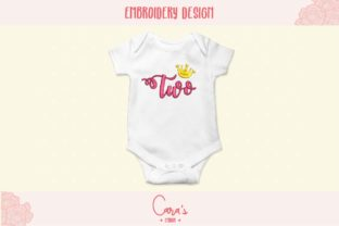 Two Years Birthdays Embroidery Design By carasembor