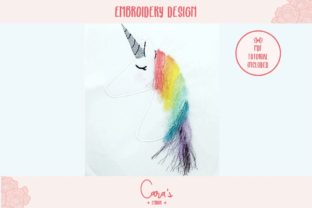 Unicorn Applique with Fringes Fairy Tales Embroidery Design By carasembor
